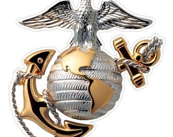 USMC Emblem (M64) Marine Corp Decal Sticker Car/Truck Laptop/Netbook Window