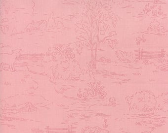 EXTRA 20% OFF Countryside Pink - Ooh La La by Bunny Hill Designs for Moda Fabrics - Toile - 2832 17