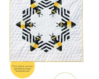 Bzzzzzz Mini Quilt Pattern by Whole Circle Quilt Studio - WCS 002