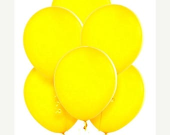 """ON SALE 12 Yellow Balloons 11"""" Superior Quality Qualatex, Wedding Shower Balloon, pastel party decor"""