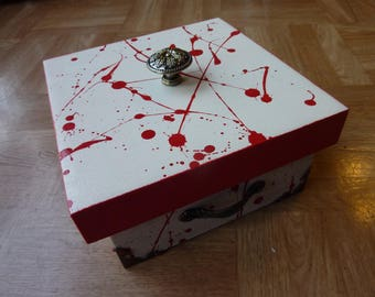 jewelry box secret blood theme wooden box