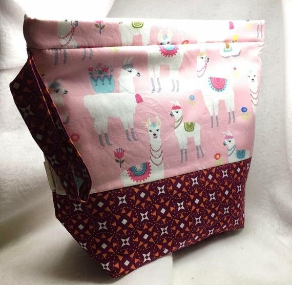Large Amy Snap Bag, Project Bag, Knitting Bag, Crochet Bag