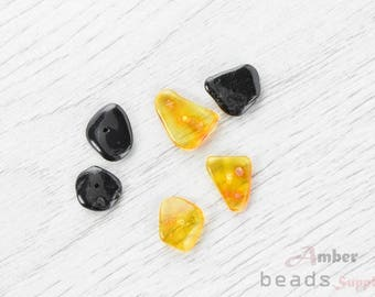 2498/14 // Baltic Amber Beads, 6 pc