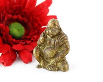 Vintage Buddha Figurine - Small Buddha Monk - Buddha Miniature - Buddhist Statue - Buddha Altar Statue - Buddhist Gift - ZEN Buddha