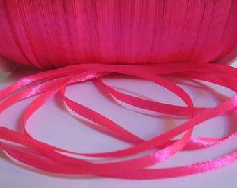 20 m 3mm neon pink satin ribbon