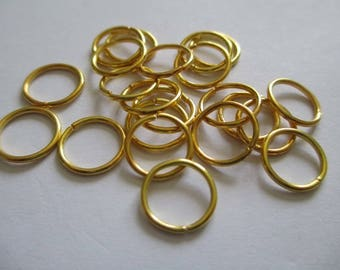 Lot 50 10mm gold jump rings