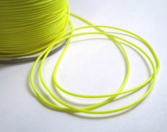 5 m thread cord waxed yellow polyester 1 mm