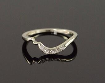 14k 0.05 CTW Diamond Engagement Wrap Band Ring Gold