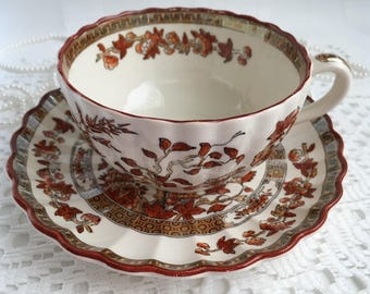 Copeland Spode England Tea Cup and Saucer, India Tree, 1944