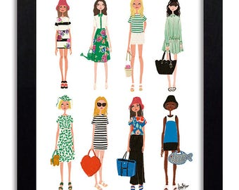 Kate Spade New York - Fashion Illustration Print Fashion Print Fashion Art Fashion Wall Art Fashion Poster Fashion Sketch Art Print