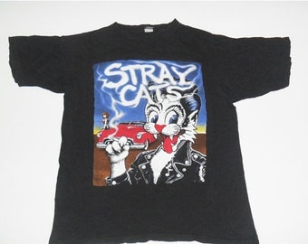 MEGA SALE 40% OFF vintage Stray Cats  rock  tour t shirt