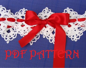 Crochet Bridal Garter PDF Pattern