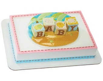 Safari Animal Babies Cake Topper