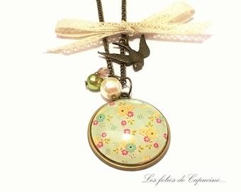 Large CABOCHON •SWEET MEMORY• necklace