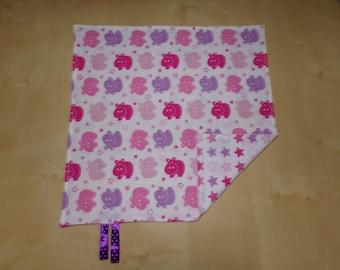 Large towel sample model hippos pink 31 cm 31 cm