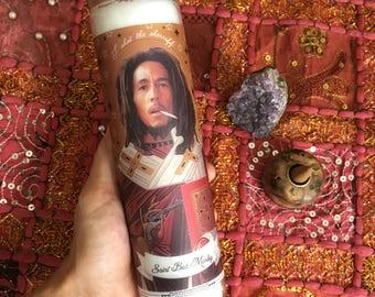 Bob Marley devotion candle