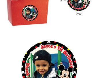 Mickey Mouse Party Favor Tag