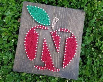 Apple String Art w/ Letter / Teacher Gift