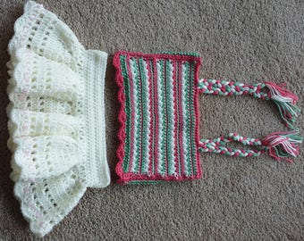 Crochet baby outfit - skirt and tank top - 1 to 1.5 yrs