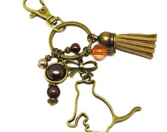 Keychain bag charm great cat gift