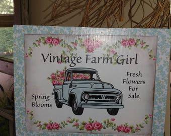 Vintage Farm Girl