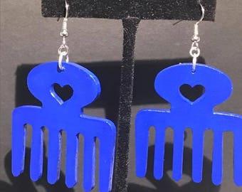 Blue Duafe Earrings