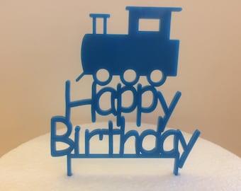 Happy Birthday Train Cake Topper