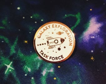 Galaxy Exploration Task Force Space Travel Enamel Pin