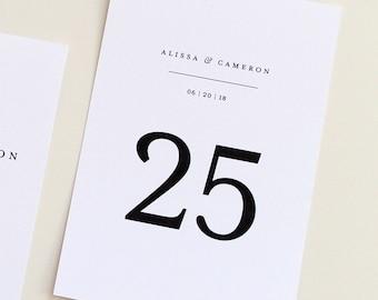 Wedding Table Numbers, Custom Table Number, Table Numbers with names, Modern wedding, modern wedding table numbers, modern design, simple