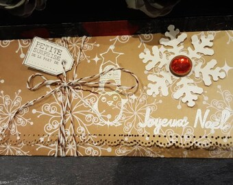 Christmas gift envelope card door cheque or Bank