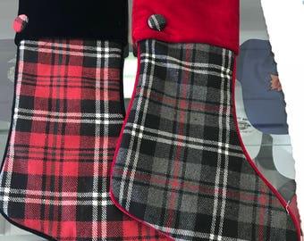 Plaid Stockings with name