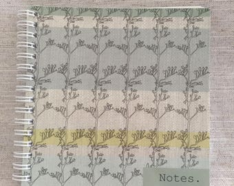 Stripe Stem Plain Notebook