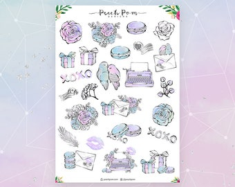P.S. I Love You- Deco Planner Stickers