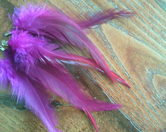 PROMO * set of 6 natural feathers for earrings