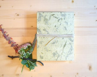 Journal Sketchbook Mint Green Natural with Beige Leather Tie
