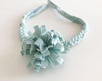 Girls boho headbands / Baby girls braided headband / Boho braided headbands / Baby headwrap / Baby headbands /baby girl headbands - Sky Blu