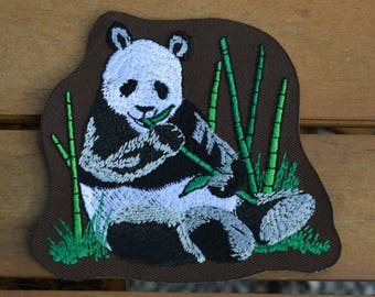 panda embroidered patch