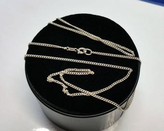 71 cm / 1.8 mm curb chain 835 silver necklace HK308