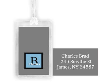 MANS Luggage tag, personalized luggage tag, custom luggage tag, monogramed tag,