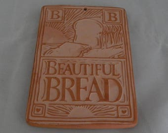 "Vintage Hill Design, Inc. Bread Warmer (1993), 6"" x 4"" Clay Bread Warmer, Terracotta Bread Warmer, Beautiful Bread"