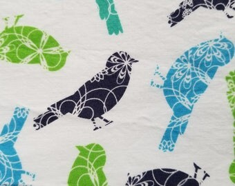 Cotton Fabric, Sewing Fabric, Quilting Fabric, Birds, 3.3 yards-Ready to Ship