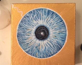 "Universe Eye 6""x6"" painting"