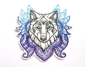 Wolf badge patch embroidered patch