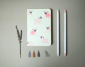 Lime Pug Pocket Notebook