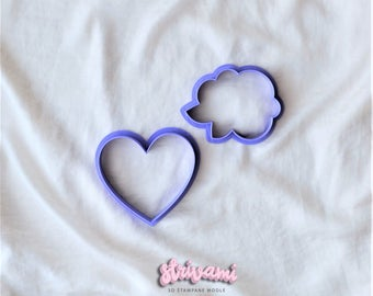 Rose Cookie Cutter,Rose Fondant Cutter,Heart Cookie Cutters,Wedding Cookie Cutter,Birthday Cookie Cutter,Love Cookie Cutter,Cookie Cutter
