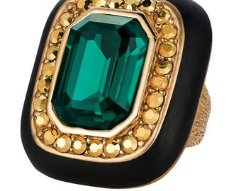 Ciner NY The Emerald Royal Ring - Size 7