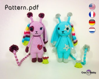 Pattern - Lilas & Blue the Rabiraffes