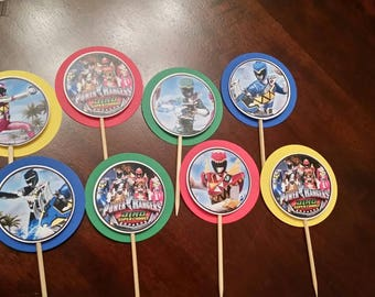 Power Rangers Dino Charge cupake toppers