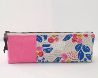 Fabric Pouch - Pencil Pouch - Pencil Case - Zippered pouch - Accessory Bag - Make up Bag - Bag Organizer - Jewelry Bag - Toiletries Bag