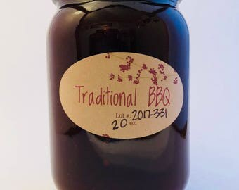 BBQ, BBQ Sauce, Traditional BBQ Sauce, mild heat, man gift, grilling, guy gift, fathers